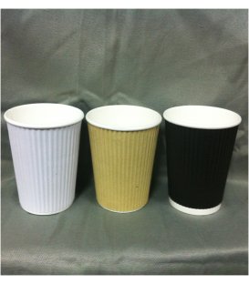12oz Corrugated Cups - Carton of 1000