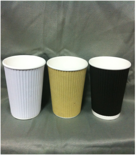 16oz Corrugated Cups - Carton of 1000