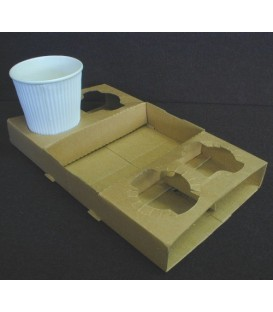 Cup Tray - Cardboard - Suit 4 Cups
