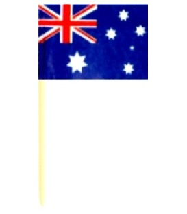 Toothpicks - Australian Flag - Carton of 10.000