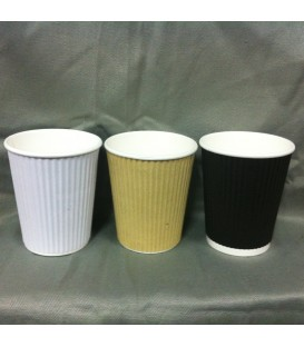 8oz Corrugated Cups - Carton of 1000