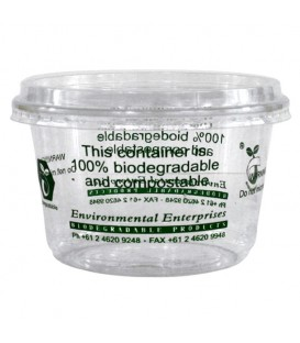 Large Bowl, Clear PLA, 700ml - Full Carton.