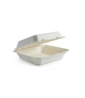 Lunch Box 3 - Hinged - Sugarcane Fibre - Carton of 200