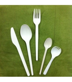 Fork, Large, White, CPLA - Full Carton.